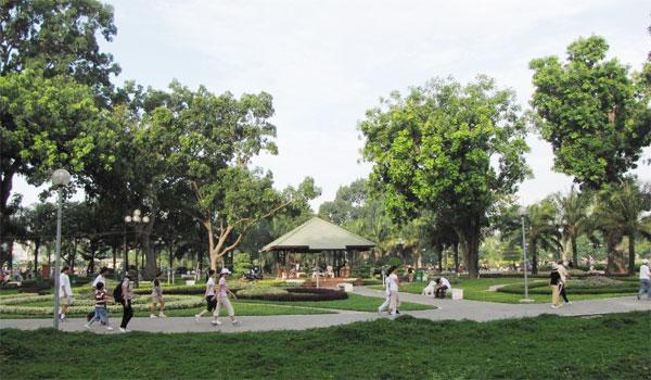 Tả cảnh công viên vào buổi sáng