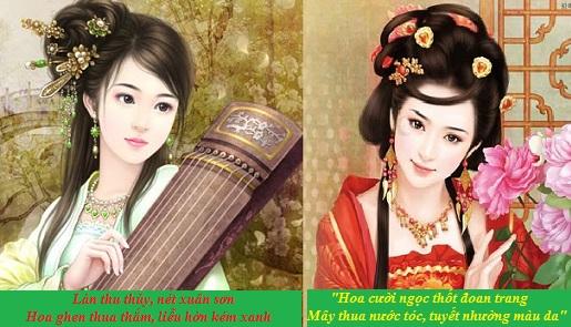 """So sánh tài sắc của Thúy Vân và Thúy Kiều được thể hiện trong đoạn thơ """"Chị em Thúy Kiều"""" trích trong """"Truyện Kiều"""""""