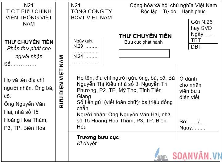 soan bai tap lam van dien vao giay to in san - Soạn bài: Tập làm văn: Điền vào giấy tờ in sẵn