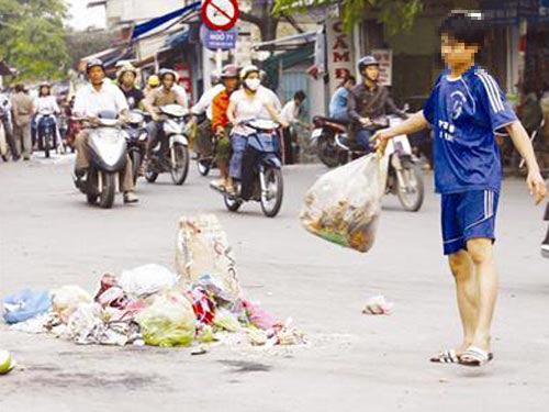 Suy nghĩ về hiện tượng xả rác trong trường học