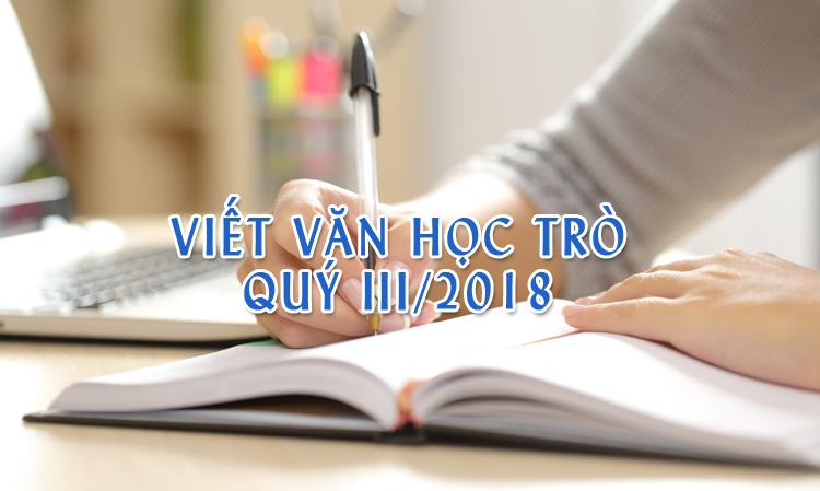 viet van hoc tro quy iii - Cuộc thi Viết văn học trò quý III/2018