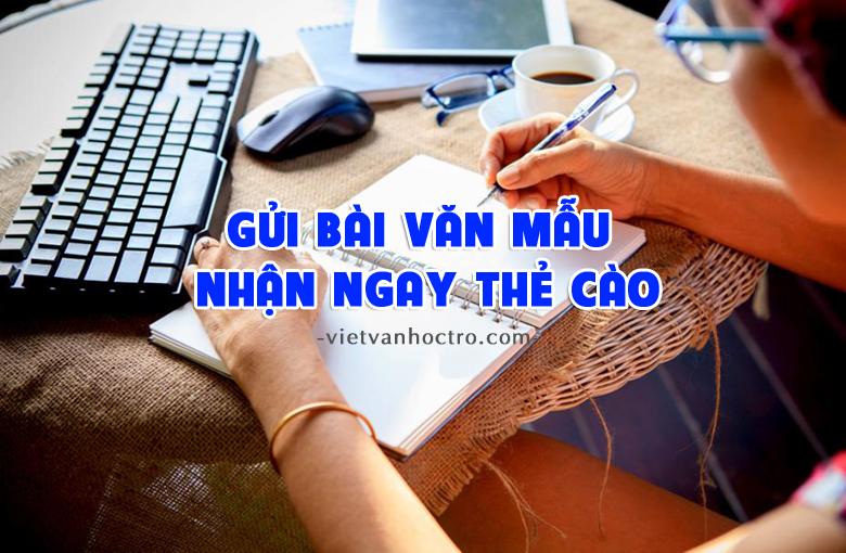 gui bai nhan the 1 - Mua bài văn mẫu của học sinh để chia sẻ miễn phí cho cộng đồng
