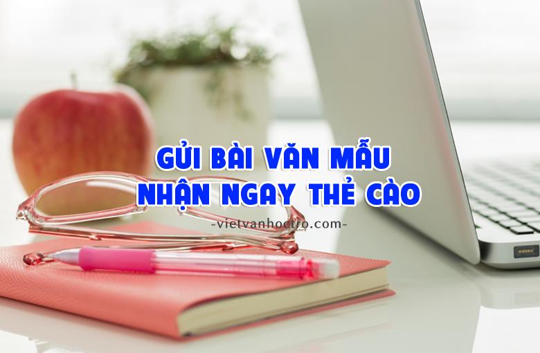 gui bai nhan the 2 - Nhận quà tặng khi gửi bài tập làm văn đến Viết văn học trò